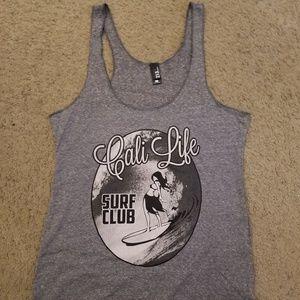 NEW Womens Cali Life Surf Club Tank Sz L
